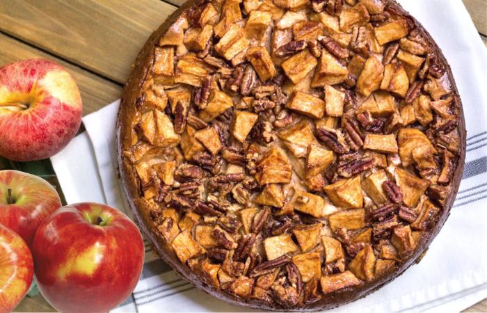 Яблочный чизкейк с орехами: лучше, чем шарлотка