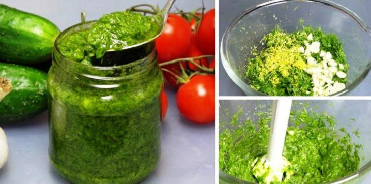 Соус из укропа: ваша любимая ароматная зелень будет доступна весь год!