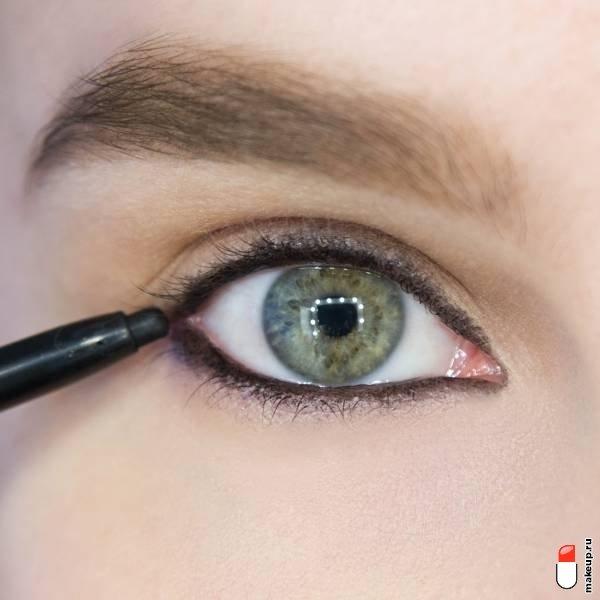 Как красиво накрасить глаза карандашом и тушью?